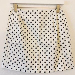 JCrew checkered mini skirt